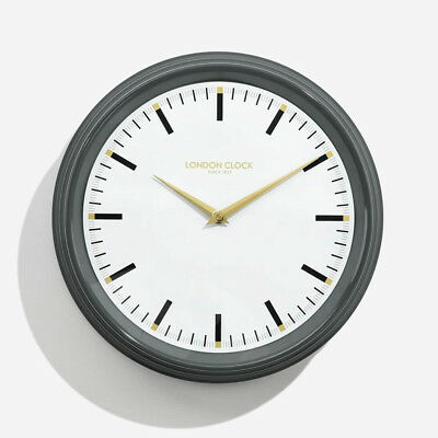 London Company Hatton Silent Sweep Metal Wall Clock 37x37cm **FREE DELIVERY**