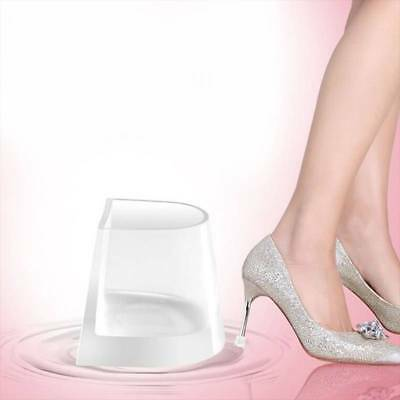 Women Wedding Clear High Heel Shoe Protector Stiletto Cover Stoppers S M L