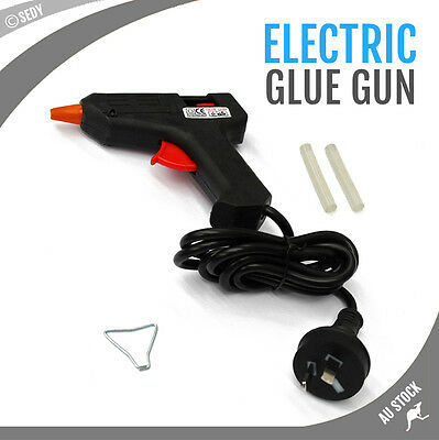 10W Hot Melt Glue Gun 7mm Stick Heater with 2x Glue Stick Electric Repair Tool