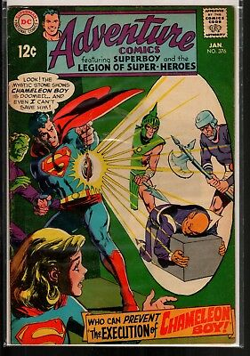 Adventure Comics #376 FN 6.0 DC Silver Age 1969 Legion of Super-Heroes!!!