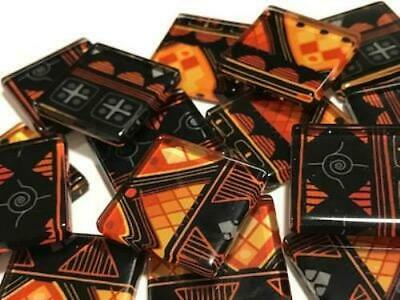 Tribal Inspired Glass Mosaic Tiles 2.5cm Pattern 11 - Art Craft Supplies