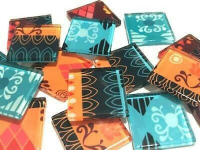 Tribal Inspired Glass Mosaic Tiles 2.5cm Pattern 14 - Art Craft Supplies