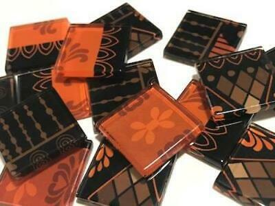 Tribal Inspired Glass Mosaic Tiles 2.5cm Pattern 21 - Art Craft Supplies