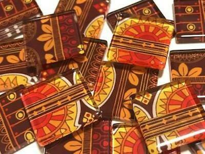 Tribal Inspired Glass Mosaic Tiles 2.5cm Pattern 5 - Art Craft Supplies