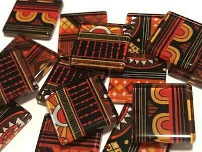Tribal Inspired Glass Mosaic Tiles 2.5cm Pattern 8 - Art Craft Supplies