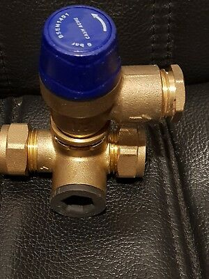 Reliance inline safety valve set at 6 bar with non return valve check valve 15mm