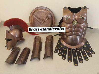 300 Medieval King Roman Spartan Helmet With Muscle Jacket War Armor Shield7