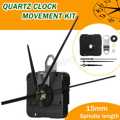 15mm DIY Quartz Clock Movement Mechanism Spindle Battery Powered Hand Tool Kit