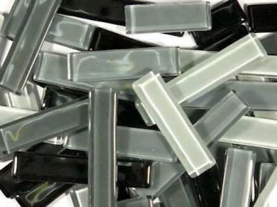 Grey Mixed Glass Rectangles - Mosaic Tiles Art Craft Supplies