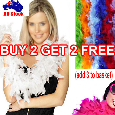 2M Feather Boa Strips Lei Fancy Party Decor Dance Dress Up for Wedding