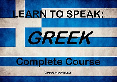 Learn Greek Fast - Spoken Language Course - 23 Hrs Audio Mp3 & 3 Books On Dvd