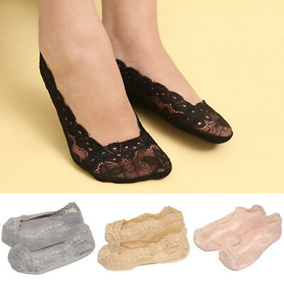 Kids Girls Invisible Lace Floral Thin Socks Casual Non Slip No Show Boat Socks