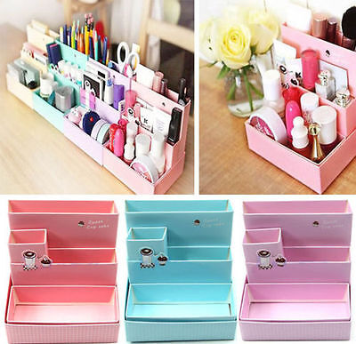 Cosmetic Organizer Clear DIY Makeup Drawers Holder Case Box Jewelry Storage ^F