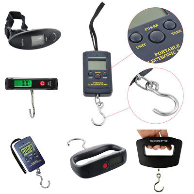 Portable Travel 40kg/ 50kg LCD Digital Hanging Luggage Scale Electronic Weight