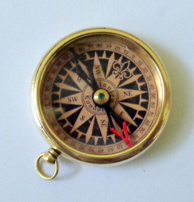 "Brass Antique Vintage Nautical 2"" Pocket Compass Christmas Gift"