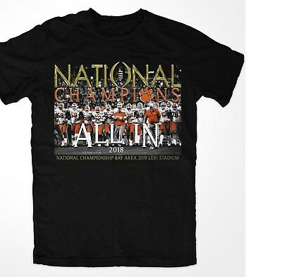 """NATIONAL CHAMPIONS CLEMSON ALL IN TIGERS 2018 college football champs"""" 15-0"""