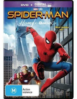 Spider-Man Homecoming Dvd/Uv, New & Sealed, 2017 Release, Region 4, Free Post