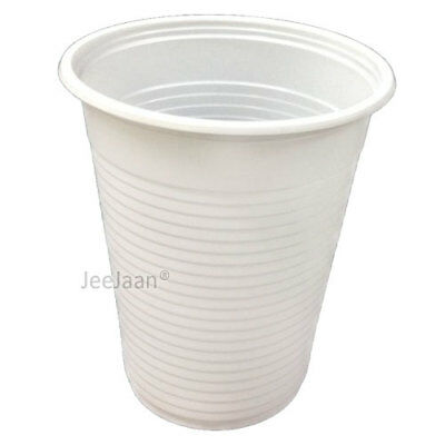 1000 White Plastic Disposable Water 7oz Cups Drinking Glass Juice Party