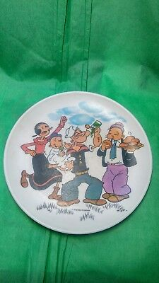 Vintage POPEYE the Sailor Man ~ Melmac Plate Children's Sweet Pea Olive Oyl ~