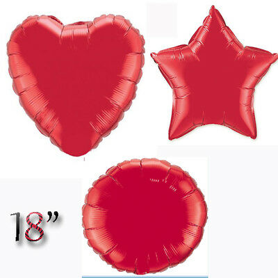 "18"" RED Love Heart Round Star Shape Foil Helium Ballons Valentine Party Wedding"