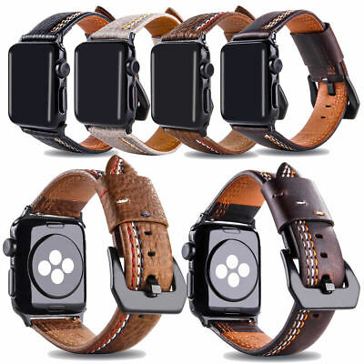 Vintage Leather Band Stylish Wristbands Strap For Apple Watch Series 4 3 2 1