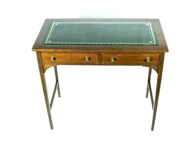 Antique English Leather Top Mahogany Hall Table - FREE Shipping [PL4796]