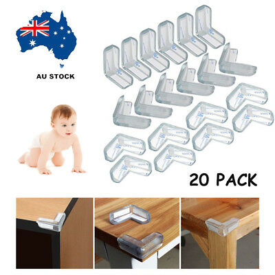 20x Table Corner Cushion Desk Edge Soft Protectors Baby Child Safety Guard Clear