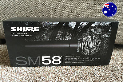 Shure SM58 S Vocal Microphone With ON & OFF Switch - Fast Dispatch - AUS Seller