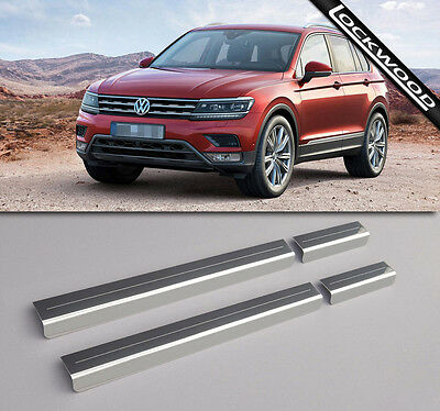 VW Tiguan Mk2 Stainless Steel Sill Protectors / Kick Plates
