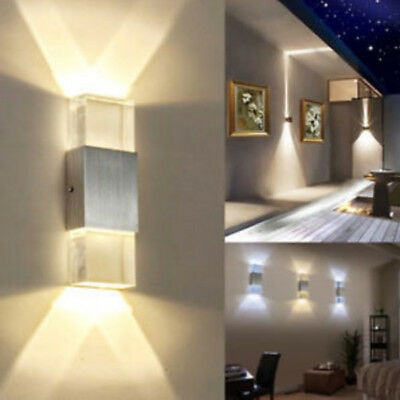 Led Wall Lamp Up Down Crystal Sconce Light Reading Hallway