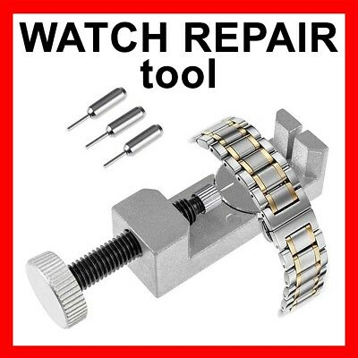 Metal Adjustable Watch Band Strap Bracelet Link Pin Remover Repair Tool Kit Set