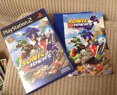 Playstation 2 Sonic Riders Box and instructions ONLY - NO GAME