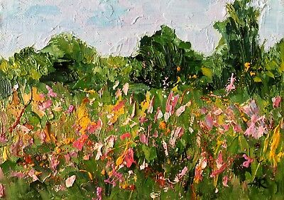 Original Contemporary Abstract Landscape Art Oil Painting