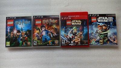 PS3 LEGO Harry Potter Years 5-7/1-4,PS3 LEGO Star Wars Complete Saga/Clone Wars.
