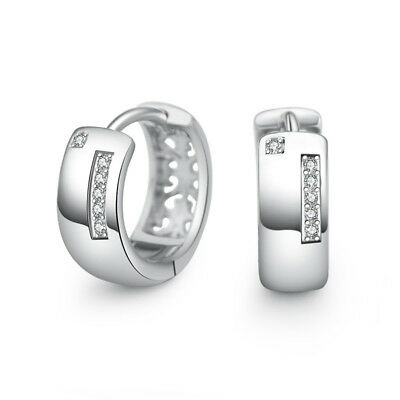Muye 925 Sterling Silver Earrings Ear Huggie Buckle Hoop For Women Jewelry EH084
