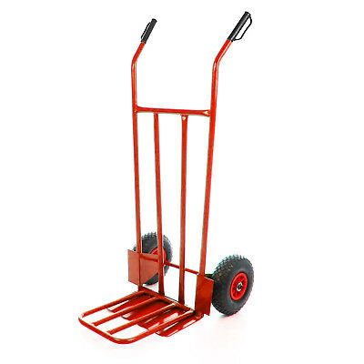 AXEEZ Extra Heavy Duty 300kg Steel Sack Hand Truck Foldable Trolley Warehouse UK