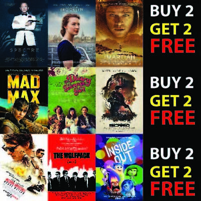 2015 BEST MOVIE WALL POSTERS PHOTO FILM WALL DECOR FAN ART A4 A3 300gsm