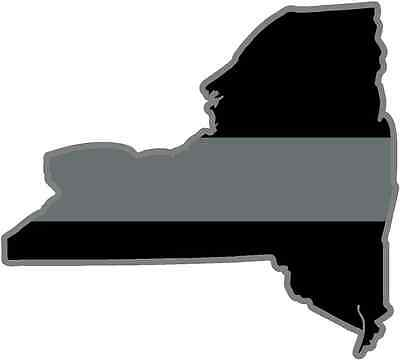 New York State Thin Silver Line Decal NY Corrections Officer Sticker EVM