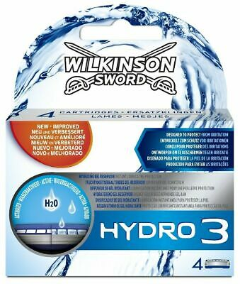Wilkinson Sword Hydro 3 Razor Blades x 8, 2 Packs of 4 Mens Shaving Genuine