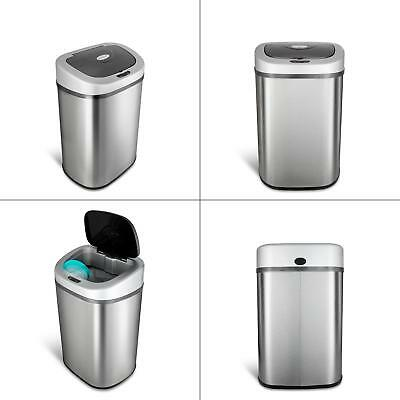KITCHEN MOTION SENSOR Trash Can Touchless Stainless Steel ...