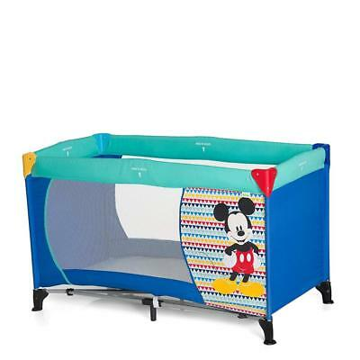 Hauck Disney Baby Dream-n-Play Travel Cot with Folding Mattress, Mickey Geo...