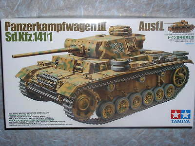 Tamiya 1/35 German Pz. Kpfw III Ausf. L Model Tank Kit #35215