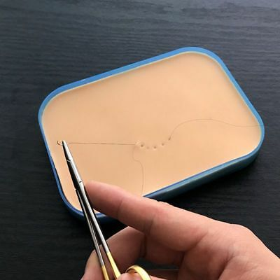 Medical Surgical Incision Silicone Suture Training Pad Practice Human Skin I5T2