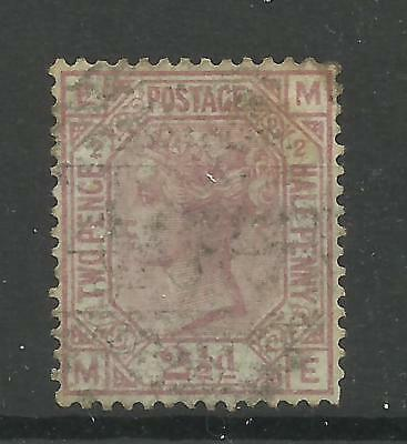1873/80 Sg 139 21/2d Rosy-Mauve (ME) Plate 2, Anchor Watermark, White paper, G/U