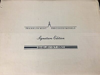 Franklin Mint 1965 Shelby Mustang GT350  Signature Ltd Ed of 3500  1:24
