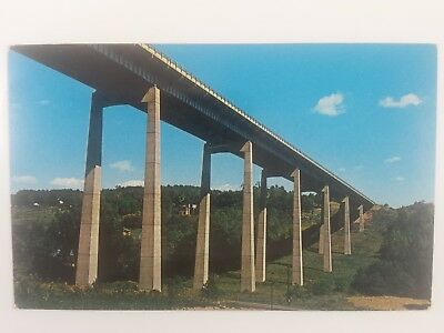 Postcard PA Pennsylvania Turnpike Walking Stilt Bridge Near Route 6 and Route 11