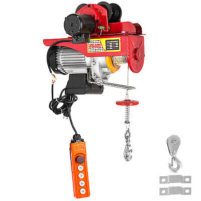 Electric Wire Rope Hoist W/ Trolley 1100/2200lbs 40ft  Lifting Industrial I-beam