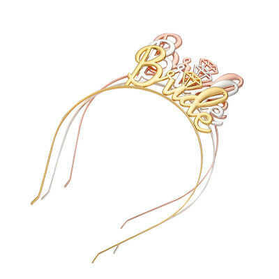 1*Bride to Be Crown Bridal Shower Tiara Hen Party Wedding Decor Hair Accessories