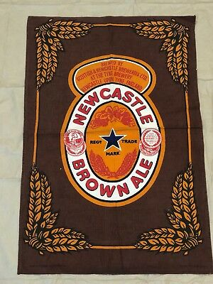 RARE! Newcastle Brown Ale Beer Bar Pub Dish Cloth Towel Game Room Man Cave