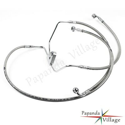 """+10"""" Stainless Front Brake Cable Line Kit For 08-13 Harley Touring Models No ABS"""